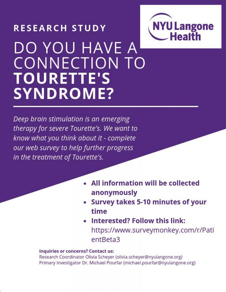 Tourettes-flyer-NYU Langone Health